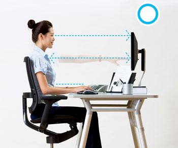 Monitor - correct position
